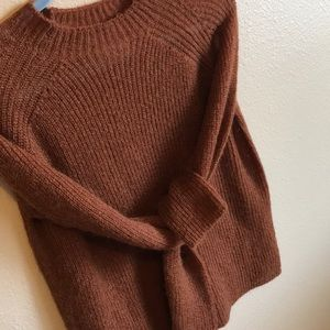 MNG Mohair Rust Sweater 🍂
